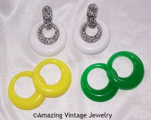 PASTEL PARFAIT Earrings - White, Yellow, Green