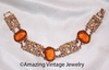 Sarah Coventry Bracelet with Amber Insets