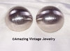 SATIN BUTTONS Earrings - Silvertone