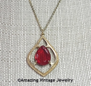 Scarlet Tears Necklace