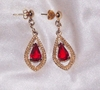 SCARLET TEARS Pierced Earrings - Converted