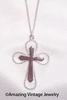 SERENITY CROSS Necklace - SILVERTONE