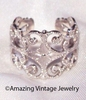 SILVERY LACE Ring