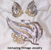 SILVERY SPLENDOR Pin & Earrings Set