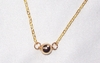 Small 14k Gold Filled Shiny Ball Necklace
