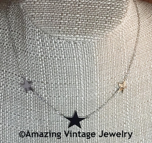 STAR SHOWER Necklace - Silvertone