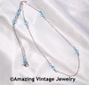 STERLING BIRTH CHAIN - December - Blue Zircon