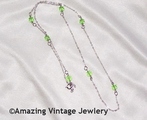 STERLING BIRTH CHAIN - Peridot