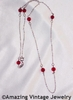 STERLING BIRTH CHAIN - Ruby