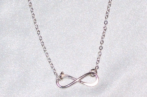 Sterling Silver Dainty Infinity Pendant Necklace