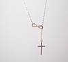 Sterling Silver Infinity + Cross Necklace