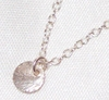 Sterling Silver Simple Disc Pendant Necklace