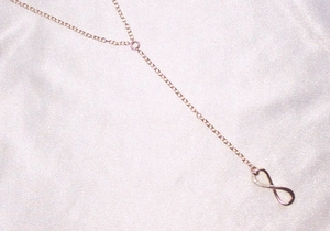 Sterling Silver Y Necklace with Infinity Pendant