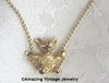 SWINGIN' BEAR Necklace - Goldtone