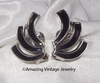 SWIRL OF FASHION Earrings Black