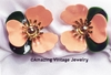 TAHITIAN FLOWER Earrings - Peach