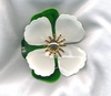 TAHITIAN FLOWER Pin - White