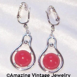 THREE CHEERS Earrings - Red