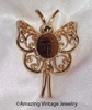 TIGER EYE BUTTERFLY Pin