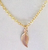 Tiny 14k Gold Filled Leaf Pendant Necklace