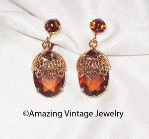 TOUCH OF ELEGANCE Earrings - Brown