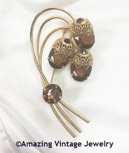 TOUCH OF ELEGANCE Pin - Brown