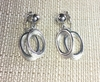 TRIFARI Double Silvertone Hoop Earrings