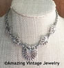 Unidentified Silvertone Shell Motif Necklace