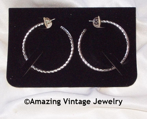 WHIRLWIND Earrings - Silvertone