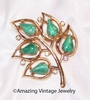 WHISPERING LEAVES Pin - Green Insets