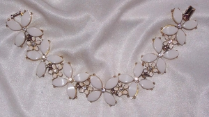 White Thermoset Bracelet