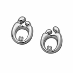 14K White Gold Mother and Child&reg Diamond Earrings