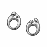 14K White Gold Mother and Child&reg Earrings