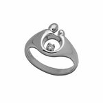 14K White Gold Small Mother and Child&reg Diamond Ring