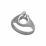 14K White Gold Small Mother and Child&reg Ring