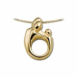 14K Yellow Gold Large Mother and Child&reg Family Pendant
