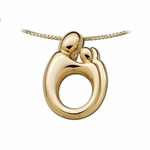 14K Yellow Gold Large Twin Mother and Child&reg Pendant