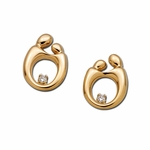 14K Yellow Gold Mother and Child&reg Diamond Earrings