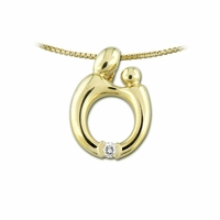 14K Yellow Gold Mother and Child&reg  Diamond Pendant