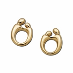 14K Yellow Gold Mother and Child&reg Earrings