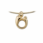 14K Yellow Gold Small Mother and Child&reg Family Pendant
