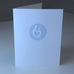 Mother and Child® White and Baby Blue Greeting Card