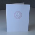 Mother and Child® White and Baby Pink Greeting Card