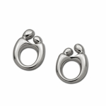 Sterling Silver Mother and Child&reg Earrings