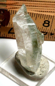 20-FACED Green Chlorite Phantom Doubly-Terminated Crystal, Arkansas