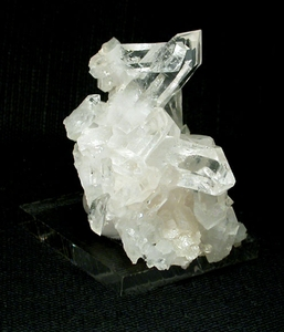 A Grade Arkansas Rock Crystal Plate Cluster, Small Cabinet