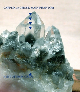 SOLD: Arkansas Blue Phantom Quartz Cluster with Ghost