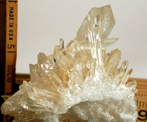 Arkansas Golden Healer Cluster - Selection of FOUR Quartz Crosses