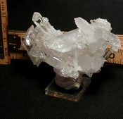 Arkansas Rock Crystal Cluster Curves into a [Cabinet Size] Smile