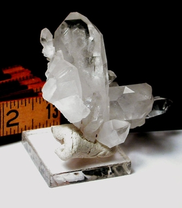 Arkansas Rock Crystal Cluster, TWO 9h FACED Points